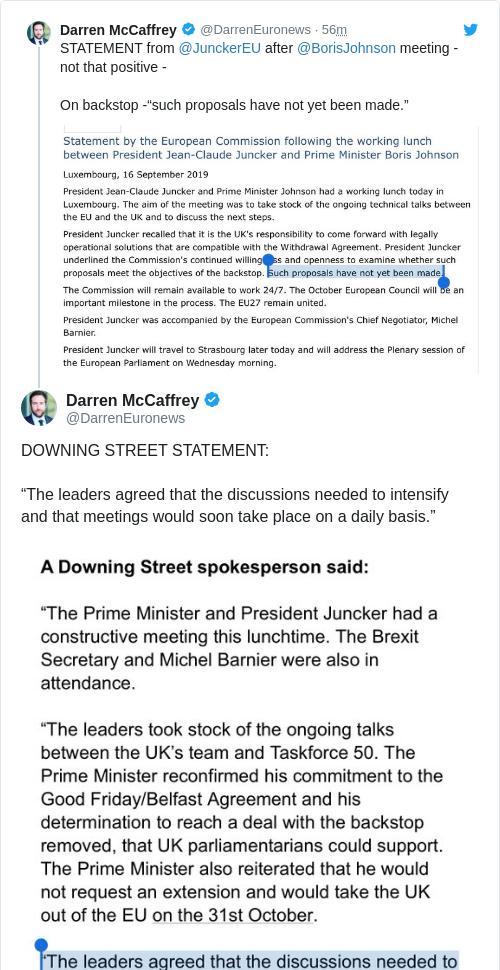 Tweet by @Darren McCaffrey