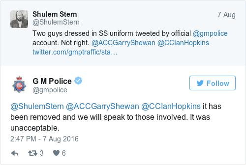 Tweet by @G M Police