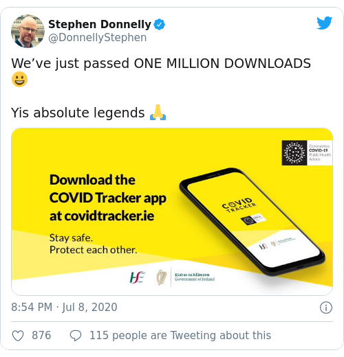Tweet by @Stephen Donnelly