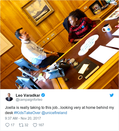 Tweet by @Leo Varadkar