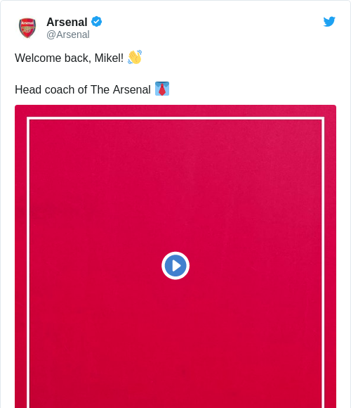 Tweet by @Arsenal