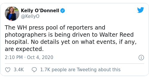 Tweet by @Kelly O'Donnell