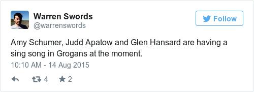 Tweet by @Warren Swords