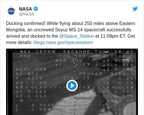 Tweet by @NASA