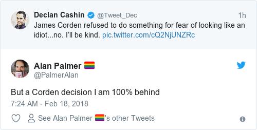 Tweet by @Alan Palmer 🏳️🌈