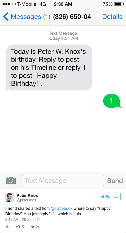 you can be really lazy now when wishing someone a happy birthday on facebook