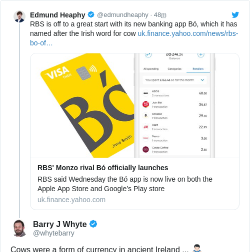 Tweet by @Barry J Whyte