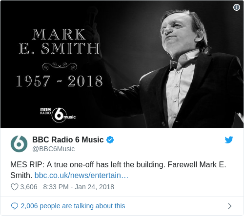 Tweet by @BBC Radio 6 Music