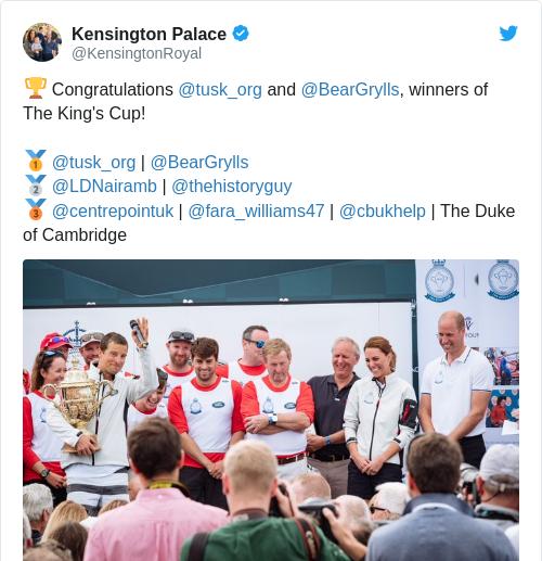 Tweet by @Kensington Palace