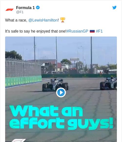 Tweet by @Formula 1