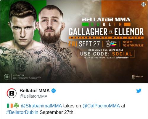 Tweet by @Bellator MMA