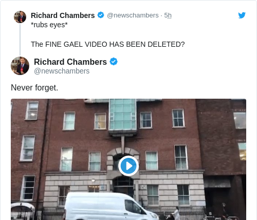 Tweet by @Richard Chambers
