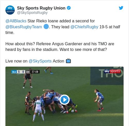 Tweet by @Sky Sports Rugby Union