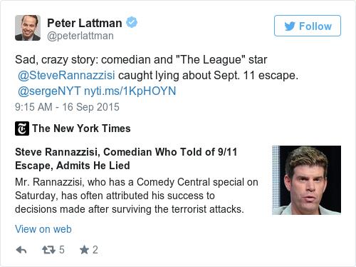 Tweet by @Peter Lattman