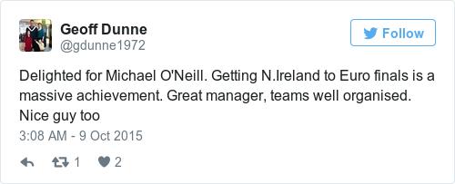 Tweet by @Geoff Dunne