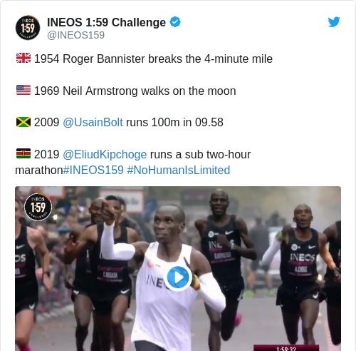 Tweet by @INEOS 1:59 Challenge