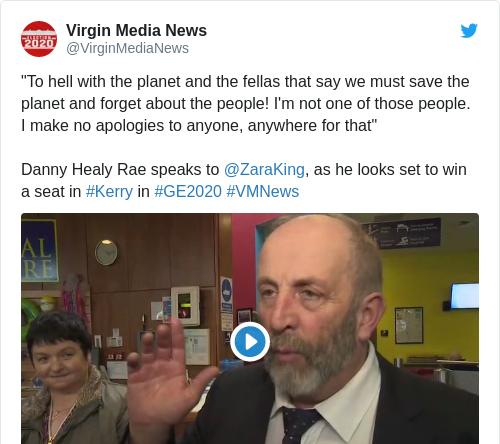 Tweet by @Virgin Media News