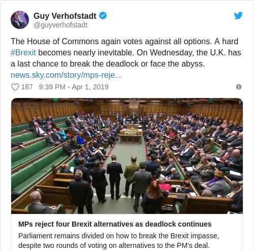 Tweet by @Guy Verhofstadt