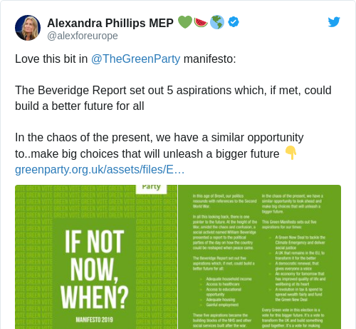 Tweet by @Alexandra Phillips MEP 💚🍉🌎