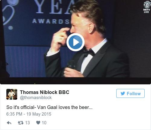 Tweet by @Thomas Niblock BBC
