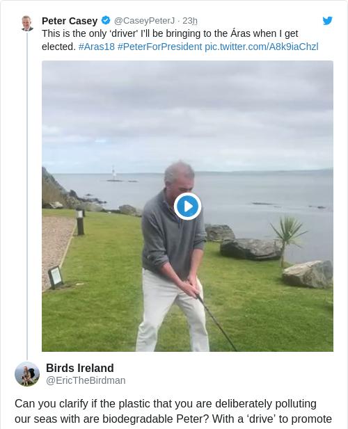 Tweet by @Birds Ireland