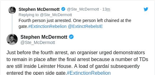 Tweet by @Stephen McDermott