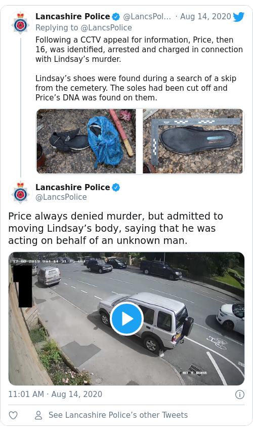 Tweet by @Lancashire Police