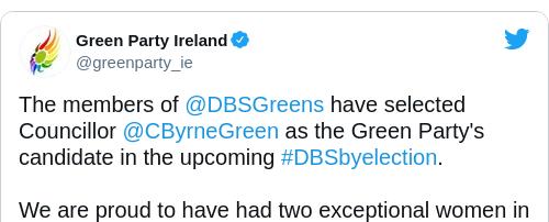 Tweet by @Green Party Ireland