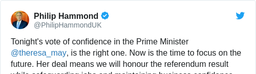 Tweet by @Philip Hammond