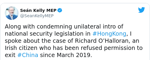 Tweet by @Seán Kelly MEP