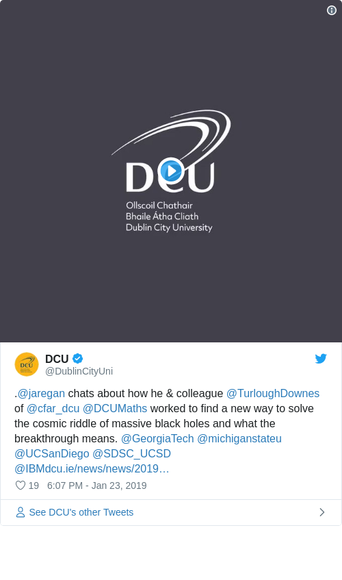 Tweet by @DCU