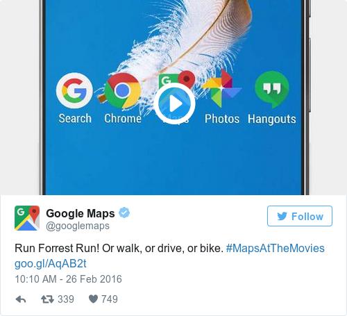 Tweet by @Google Maps