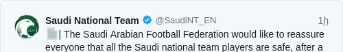 Tweet by @Saudi National Team