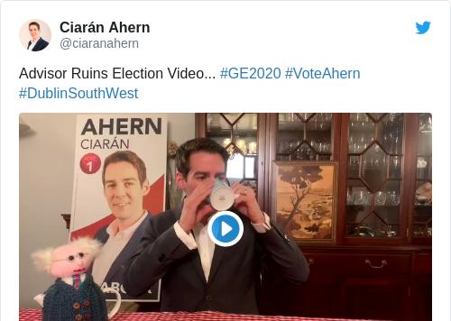 Tweet by @Ciarán Ahern