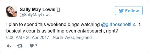 Tweet by @Sally May Lewis ✨