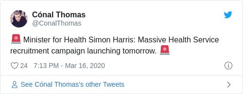 Tweet by @Cónal Thomas