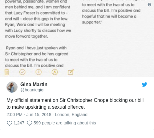 Tweet by @Gina Martin
