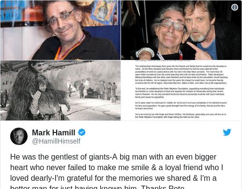 Tweet by @Mark Hamill