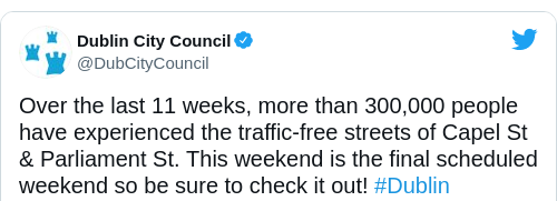 Tweet by @Dublin City Council