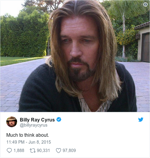 Tweet by @Billy Ray Cyrus