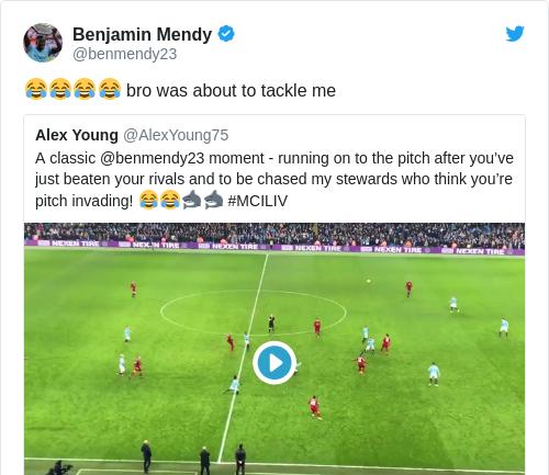 Tweet by @Benjamin Mendy