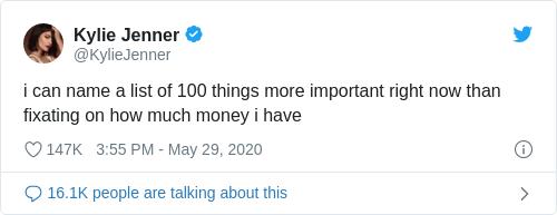 Tweet by @Kylie Jenner