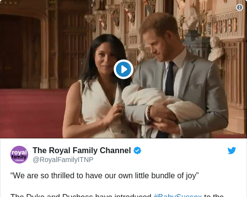 Tweet by @The Royal Family Channel