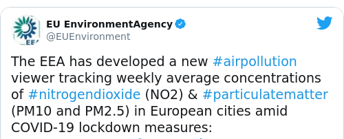Tweet by @EU EnvironmentAgency