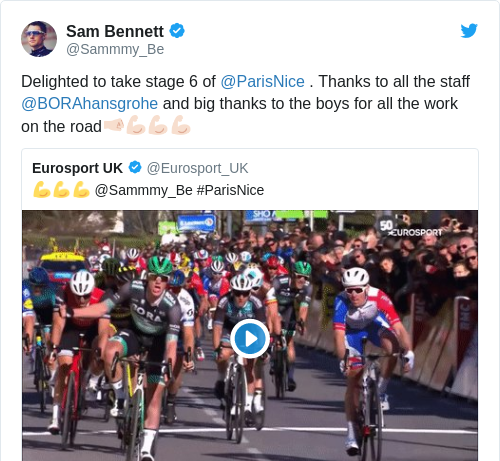 Tweet by @Sam Bennett