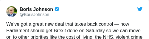 Tweet by @Boris Johnson