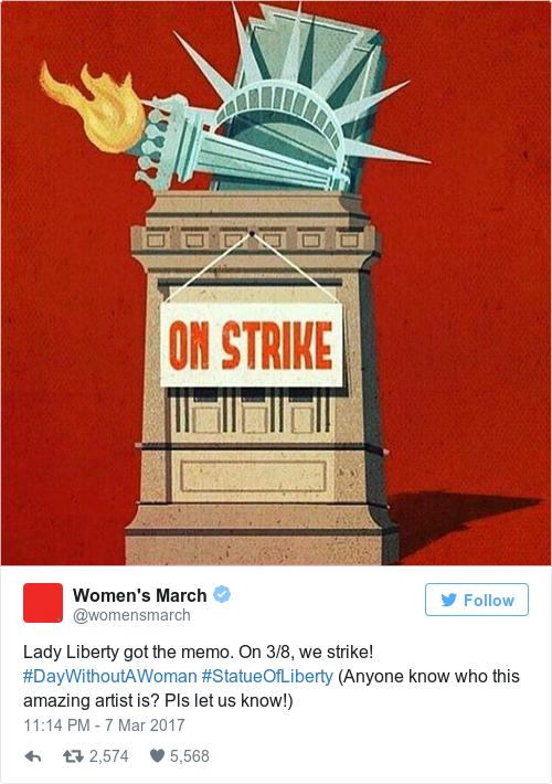 Tweet by @Women's March