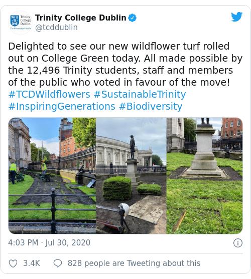 Tweet by @Trinity College Dublin