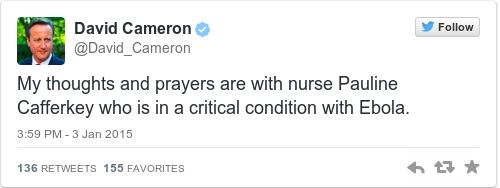 Tweet by @David Cameron