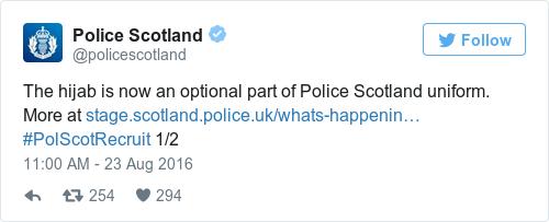 Tweet by @Police Scotland